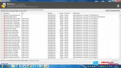 Screenshot Recuva untuk Windows 8