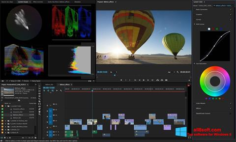 Screenshot Adobe Premiere Pro untuk Windows 8