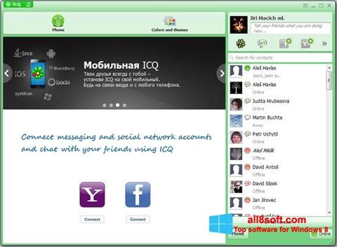 Screenshot ICQ untuk Windows 8