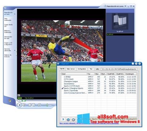 Screenshot SopCast untuk Windows 8