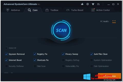 Screenshot Advanced SystemCare untuk Windows 8
