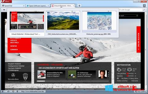 Screenshot Opera untuk Windows 8