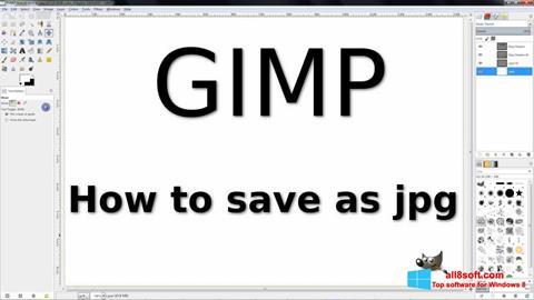 Screenshot GIMP untuk Windows 8