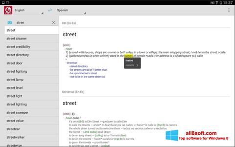 Screenshot ABBYY Lingvo untuk Windows 8