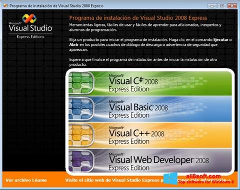 Screenshot Microsoft Visual Studio untuk Windows 8