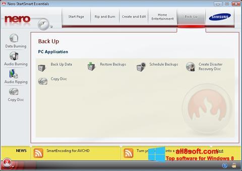 Screenshot Nero untuk Windows 8
